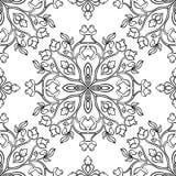 Österlänning blom- prydnad vektor illustrationer