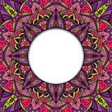 Österlänning färgrik dekorativ ram Arkivfoton