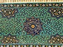 Österlänningprydnader och mosaiker av en moské Arkivfoton