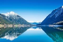 Österreich, Achensee See im Winter Lizenzfreie Stockfotografie