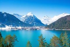 Österreich, Achensee See im Winter Stockfotos