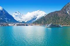 Österreich, Achensee See im Winter Stockfoto
