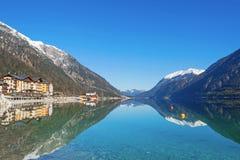 Österreich, Achensee See im Winter Stockbild