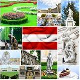 Österreich-Collage stockfotos
