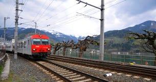 Österreich durch Rail - OBB stockfoto
