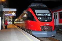 Österreich durch Rail - OBB Lizenzfreies Stockbild