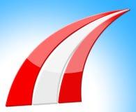 Österreich-Flagge stellt patriotische Streifen und Nation dar Lizenzfreie Stockfotos