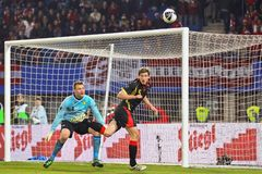 Österreich gegen Belgien Stockbilder