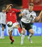 Österreich gegen Deutschland lizenzfreie stockfotografie