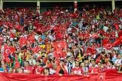 Österreich gegen die Türkei Stockfotografie