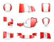 Österreich kennzeichnet Sammlung Vektor Abbildung