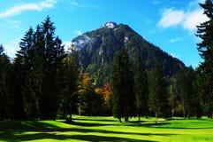 Österreich: 18 Loch Golfplatz in Pertisau bei Achensee Lizenzfreie Stockfotos