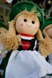 Österreich-Puppe in einem souvernir Shop in Salzburg Stockfotografie