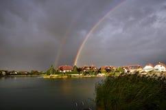 Österreich, Regenbogen Lizenzfreies Stockfoto