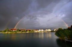 Österreich, Regenbogen Stockfotografie