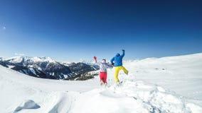 Österreich - Schnee-Sprung stockbilder