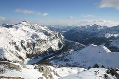 Österreich - schneebedeckte Berge Lizenzfreie Stockfotos
