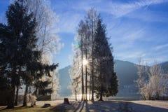 Österreich, Tirol, Walchsee lizenzfreies stockfoto