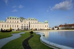 Österreich wien Der Belvedere-Palast stockbilder