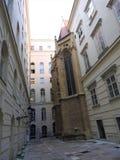 Österreich, Wien, vorzügliche Architektur von Steinwänden von Gebäuden stockfoto