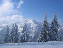 Österreich-/Winterszene Stockfotografie