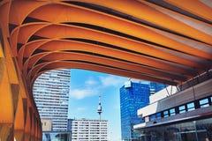 Österreich zentrieren Wien ACV-Konferenzzentrum-Architekturteil O Stockfotos