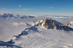 Österreichische Alpen. Kaprun Gletscher Lizenzfreies Stockfoto