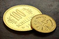 Österreichische Goldmünzen Stockfotos