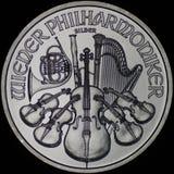 Österreichische philharmonische Silbermünze (Gegenstücck) Lizenzfreie Stockfotos