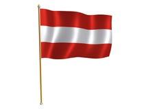 Österreichische silk Markierungsfahne stock abbildung