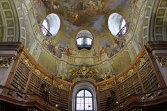 Österreichische Vault - National Library Royalty Free Stock Photography