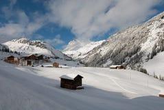 Österreichische Winter-Szene Stockbild