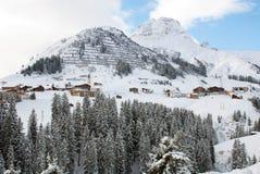 Österreichische Winter-Szene Stockfotografie
