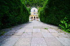 Österreichischer alter historischer Kaiserbadekurort Stockbild