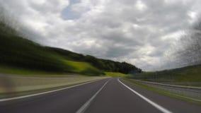 Österreichischer Autobahn, Zeitversehen stock footage