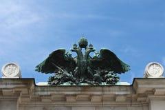 Österreichischer doppelter Adler Stockfoto
