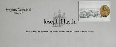 Österreichischer Komponist Joseph Haydn stockfotografie
