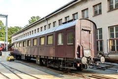 Österreichischer Passagiertrainer der Weinlese stockbild