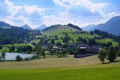 Österreichisches Dorf, Österreich, Europa lizenzfreie stockfotos