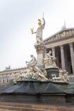 Österreichisches Parlament, Wien, Österreich Lizenzfreies Stockfoto