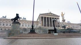 Österreichisches Parlament, Wien, Österreich Stockfotos