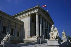 Österreichisches Parlaments-Gebäude Stockfotos
