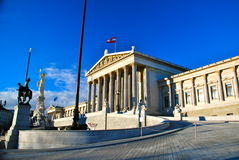 Österreichisches Parlamentsgebäude, Wien Stockfotos