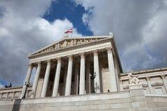 Österreichisches Parlamentsgebäude in Wien lizenzfreies stockfoto