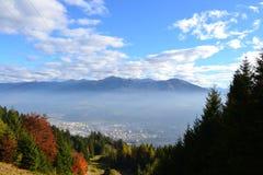Österrike Ã-sterreich landskapInnsbruck lopp royaltyfri fotografi