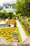 Österrike arbeta i trädgården mirabell salzburg royaltyfria bilder