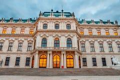 Österrike belvedereslott vienna arkivbilder