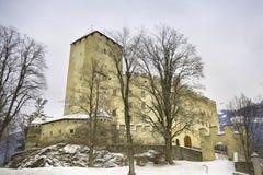 Österrike bruckslott östliga tyrol arkivfoton