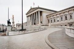 Österrike byggnadsparlament vienna Arkivfoto