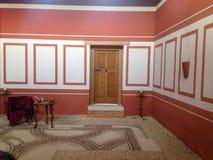 Österrike Carnuntum stor vardagsrum i forntida romersk stad royaltyfri foto